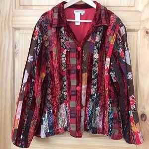 Coldwater Creek embellished jacket plus Sz 2X